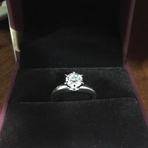 Jewelry - Diamonique 1.00 cttw Solitaire, 14K White Gold